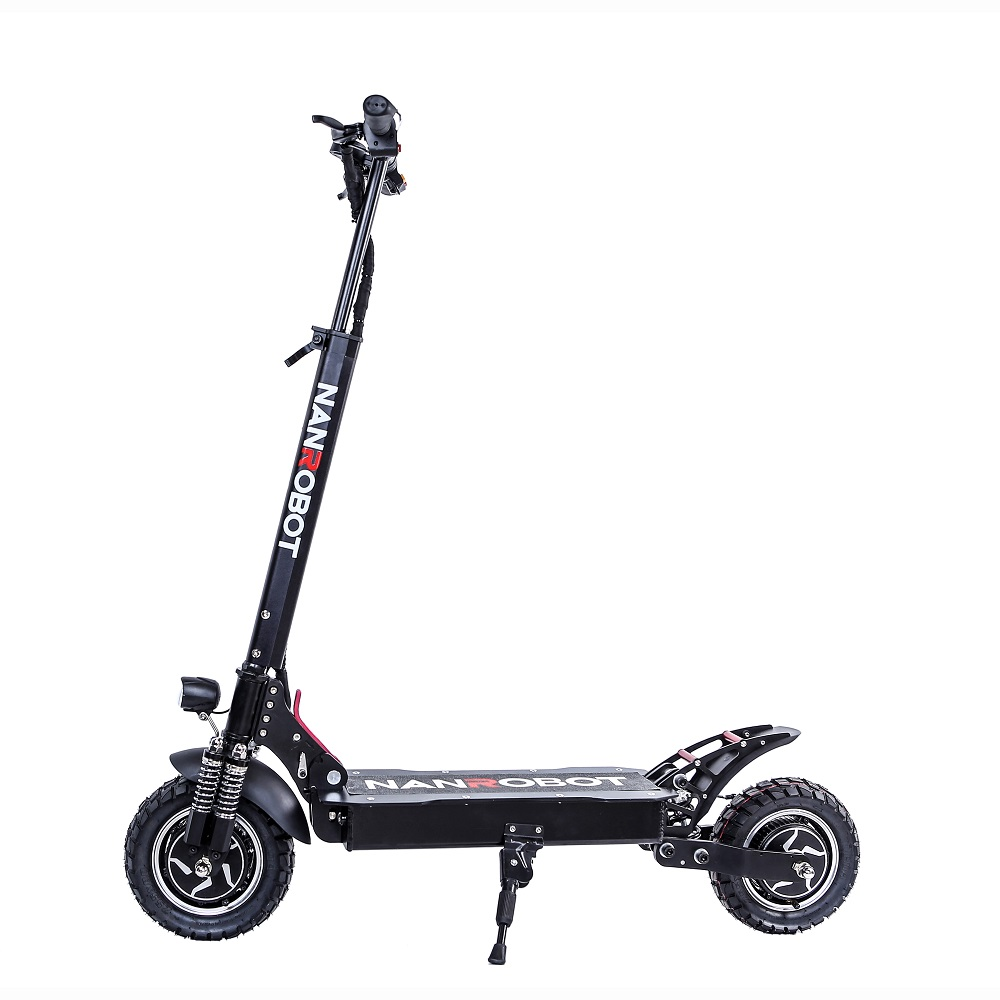 Nanrobot 10inch 2000W dual Motor Adult Light weight Folding powerful Electric Scooter, Black