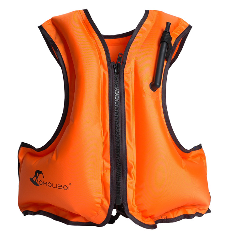 Inflatable Portable Folded Swimming Surfing Fishing Customized LOGO Life Vest