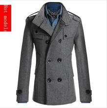 Luxusní zimní pánský kabát z Aliexpress