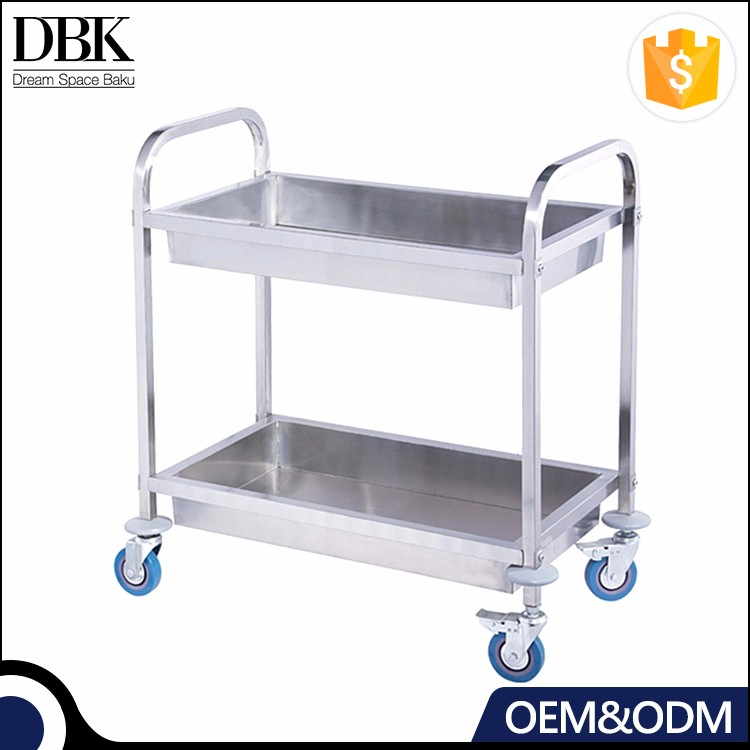 High Quality Restaurant stainless steel kitchen dining trolley serving utility cart