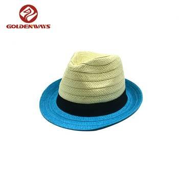 4cdb78cdc08e9 Papel promocional barato personalizado homens fedora chapéu de palha de  papel chapéu ...
