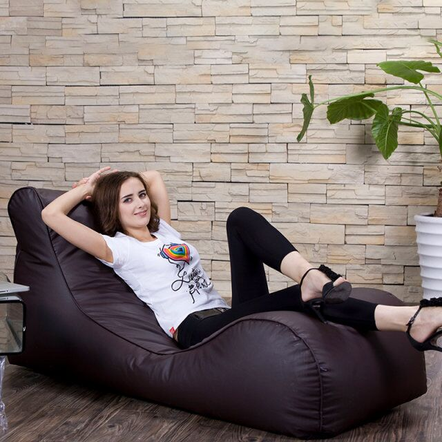 Home furniture Chaise Lounge long living room sofa outdoor waterproof cool lazy bean bag bed chair