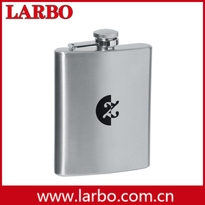 glass bottle hip flask
