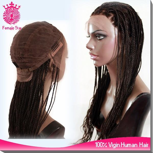 e315dba4f24 wholesale micro braided lace front wigs box braid wig for black women