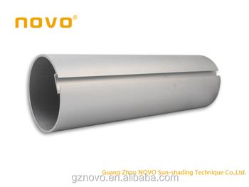NOVO large diameter aluminum tube roller blind rod with wooden ...