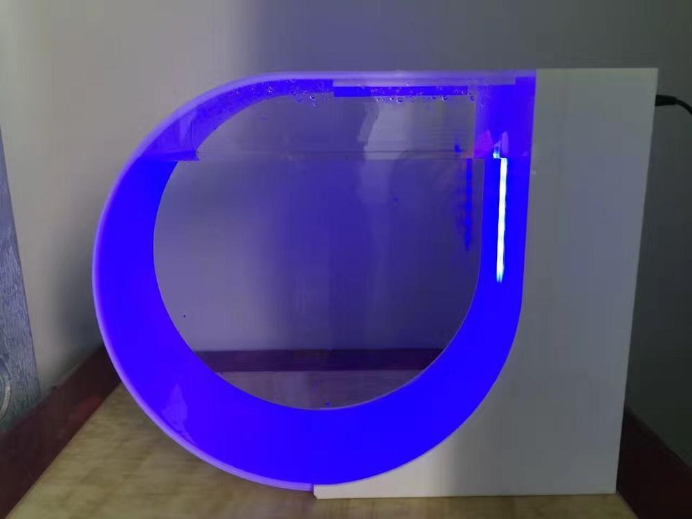 Favoloso design rotonda plexiglass pesce acquario con controllo di