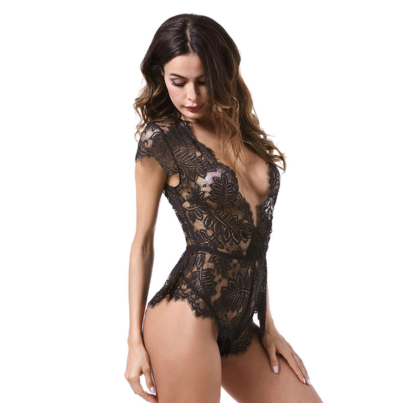 GHSL2002 Big size lady sexy lace fun one-piece underwear