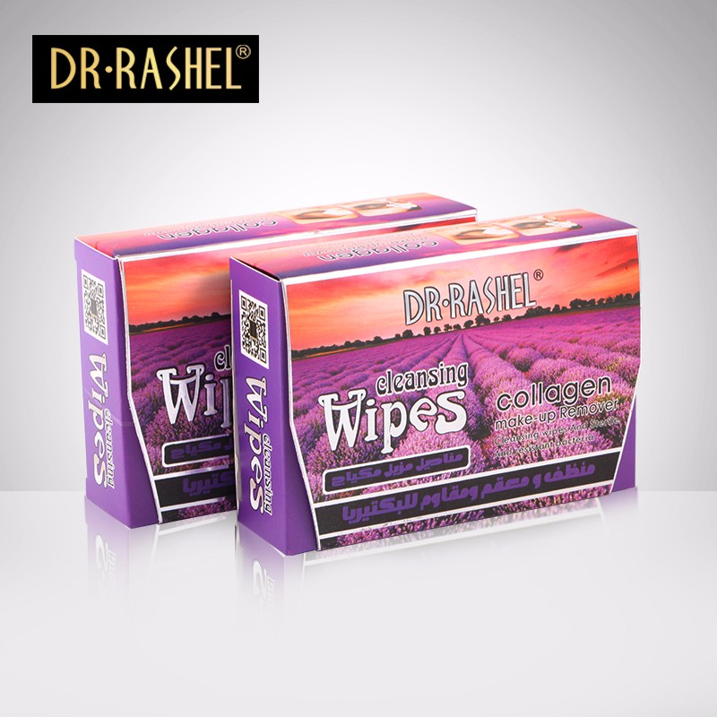 DR.RASHEL Lavender Collagen Makeup Remover Cleansing Wipes