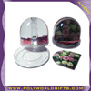 clear plastic acrylic snow globe photo insert with snow float,souvenir snow globe kit,promotional photo snow globes