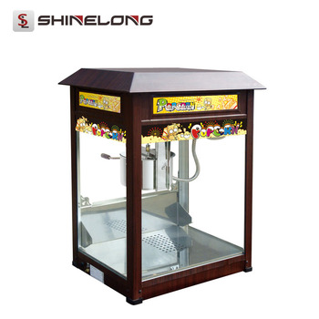 Guangzhou Supplier ShineLong 8/16 Ounces Coin Operated popcorn machine