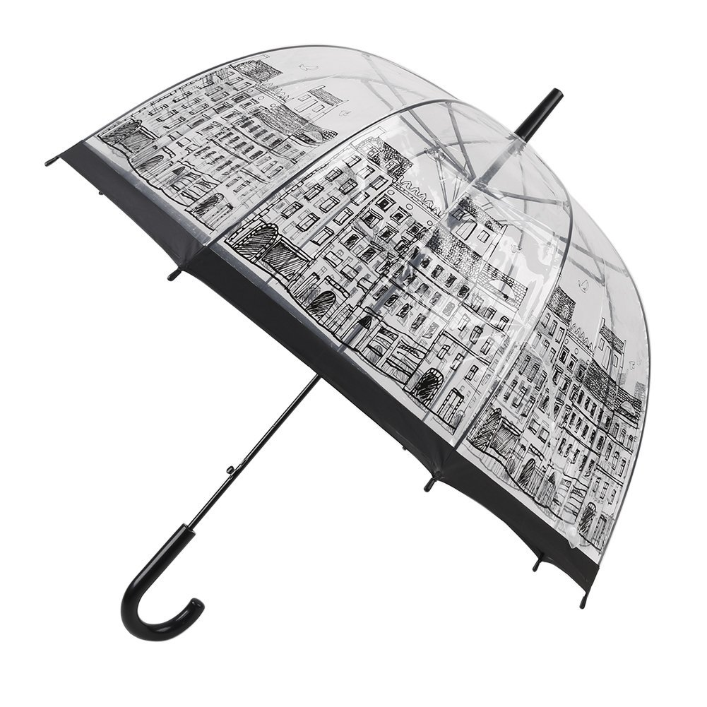 Stylish Clear Bubble Umbrella,CLINE Transparent Totes Rain Umbrella Romantic Umbrellas for Women Girls Kids Gift