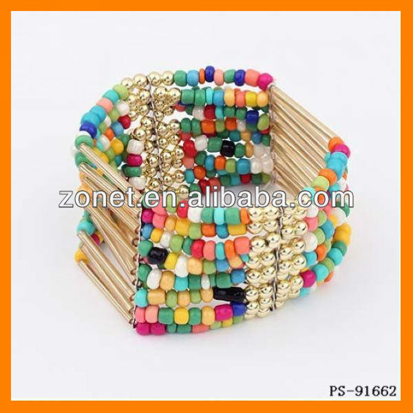 2013 New Arrive Europe Statement Woven Bead Bangles Colorful Wholesale ZTPS-91662