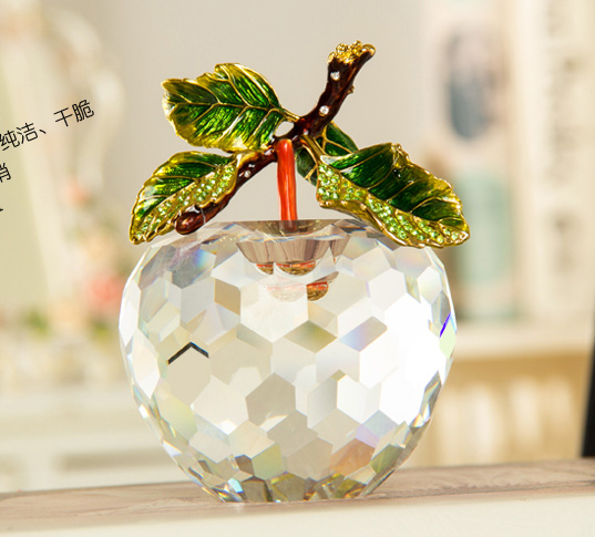 2014 Hot sale crystal apple theme gifts