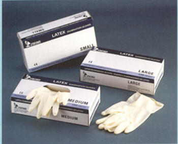 Hospital examination gloves