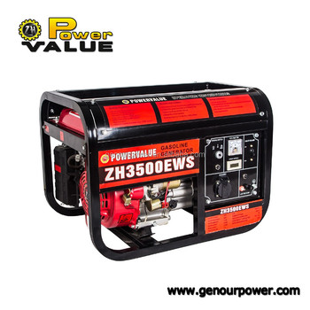 Power Value 3kw small gasoline generator manual with low gas consumption for sale