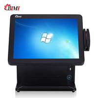 Bimi all in one pos system 15 inch touch screen pos terminal with card reader pos machine