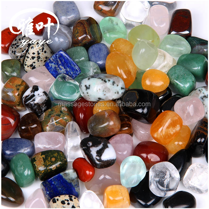 Bulk Wholesale Colore Misto Tumbled Stones Display