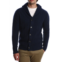 Mens Merino Wool Knitted Scottish Winter Cardigan Sweater