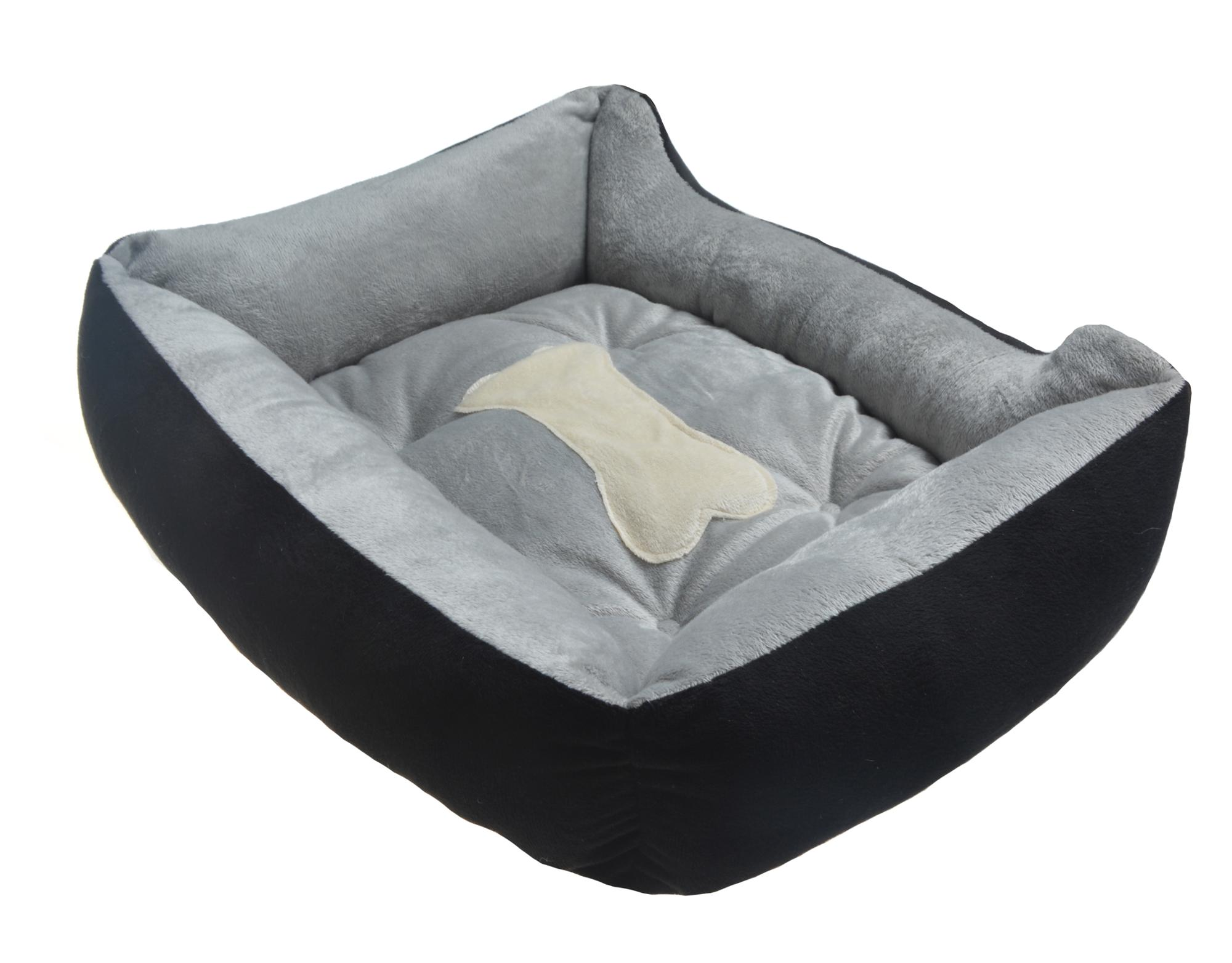 Sunland pet self warming beds for Cat or Dog SOFA Bed -Thick, Bolstered Ultra-Soft Microfiber Black