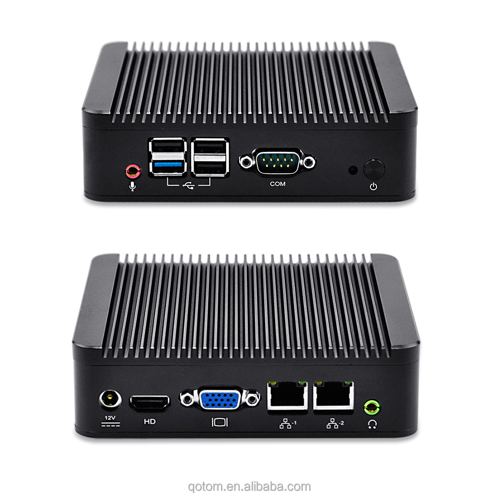nano itx 2 ethernet Qotom Q190S With celeron J1900 ,10W Vga,HD Video,4*USB Support win OS/Linux