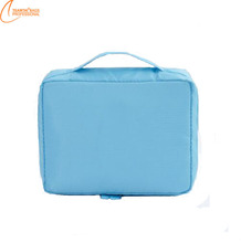 Travel cosmetic bag organizer wholesale nylon toiletry bag for women