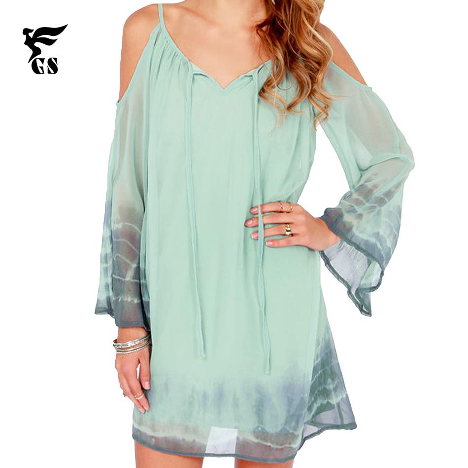 GS 2015 Summer Bohemian Long Dresses Long Sleeve Print ...
