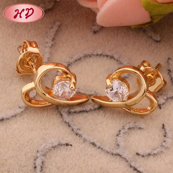 Fashion Design Antique Fake Diamond Stud Earrings