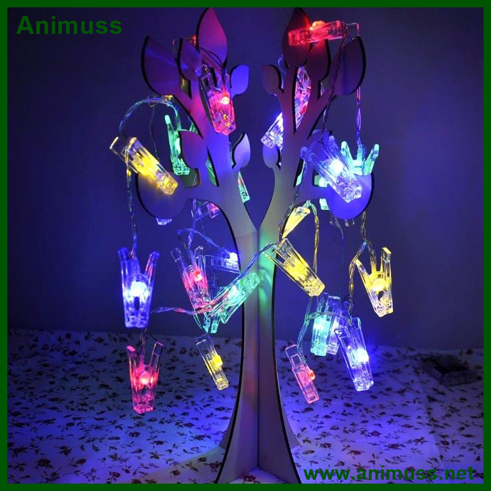 USB Plug battery powered 5 meters 20 led Photo Clip String Garlands Lights Home garden LED Flash Fancy night Light