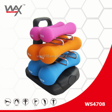 Vinil/<span class=keywords><strong>Neoprene</strong></span> levantamento de peso com rack dumbbell set