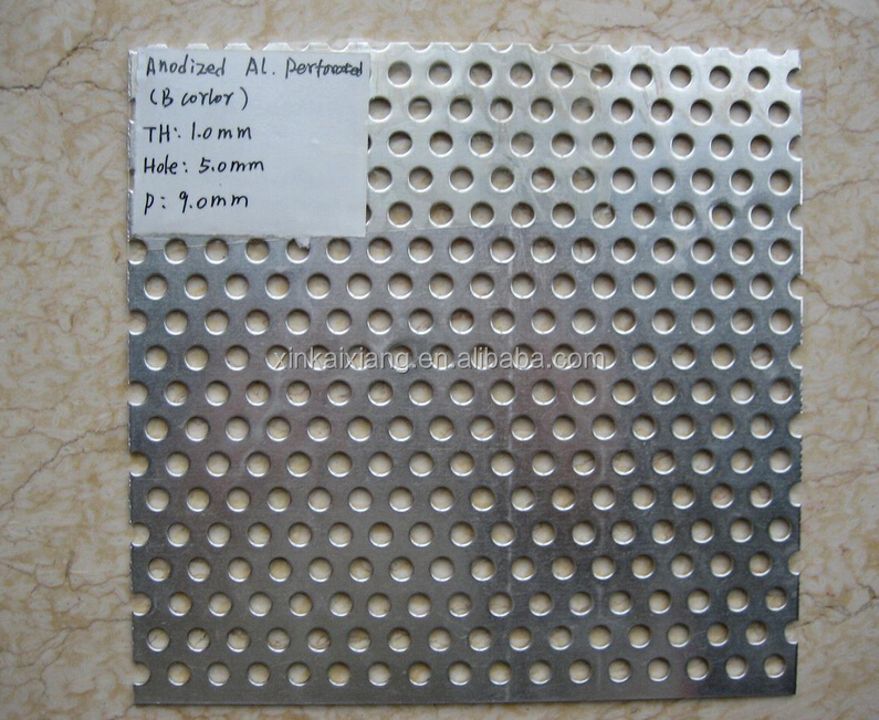 Round Hole 316l Punch Metal Perforated Stainless Steel