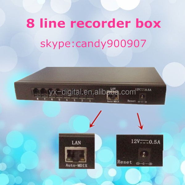 Small voice telephone recorder . 8 line telephone recording with 8G internal memory
