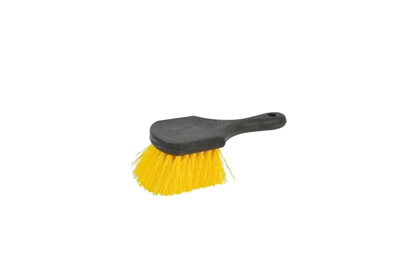 Janico 4006 Bristles 8 Inch Utility Brush with Polypropylene Bristles, Black