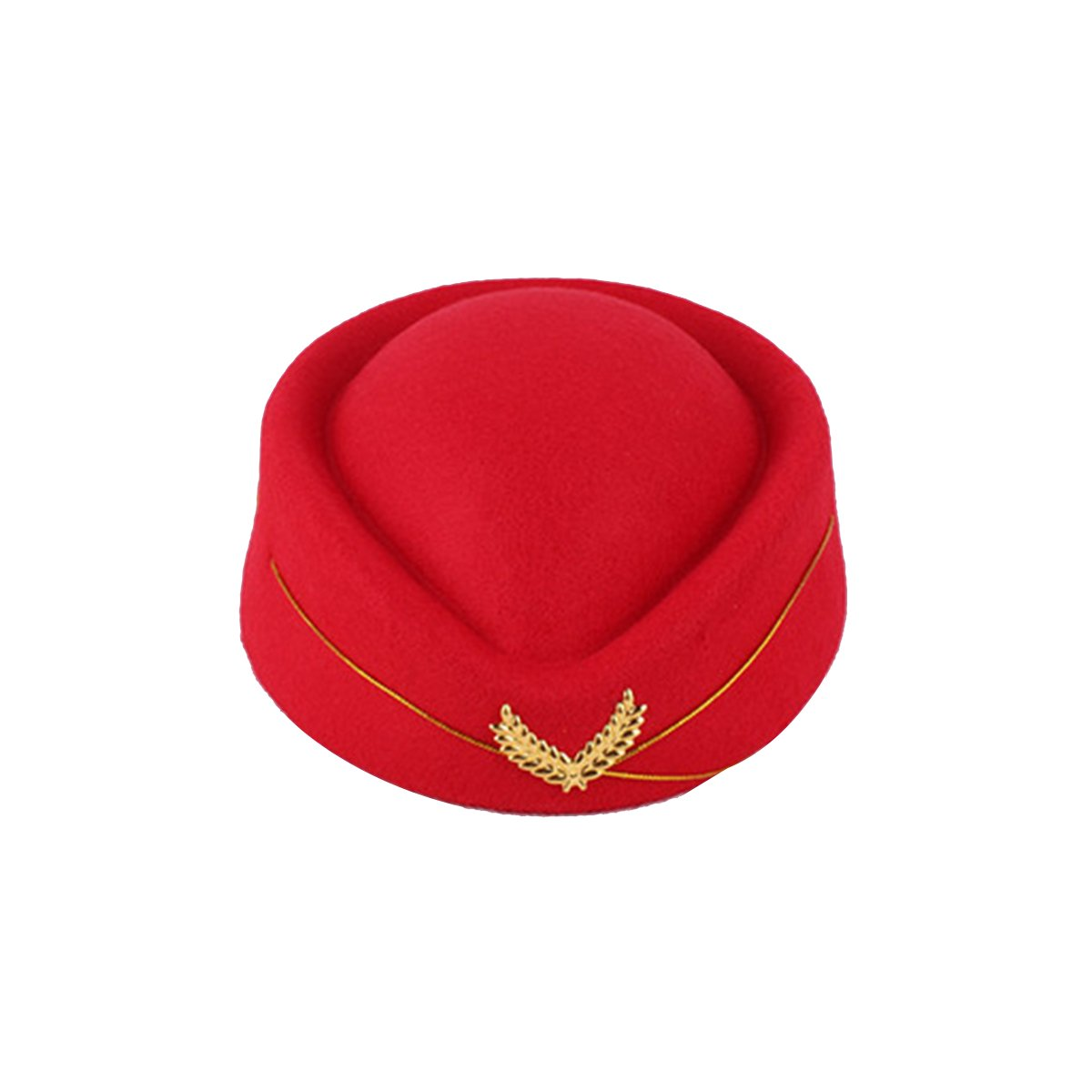 61ecb08f0c2 Get Quotations · BESTOYARD Stewardess Hat Wool Cap Flight Attendant Hat  Stewardess Cap For Costume Cosplay Costume accessories (