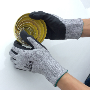 SRSAFETY PU palm coated cut resistant sheet metal assembly glove