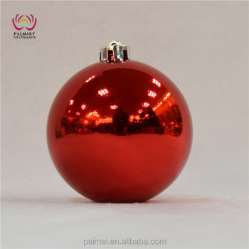 Red Shiny Cheap Christmas Ornaments 12 Cm Big Decoration Baulbe