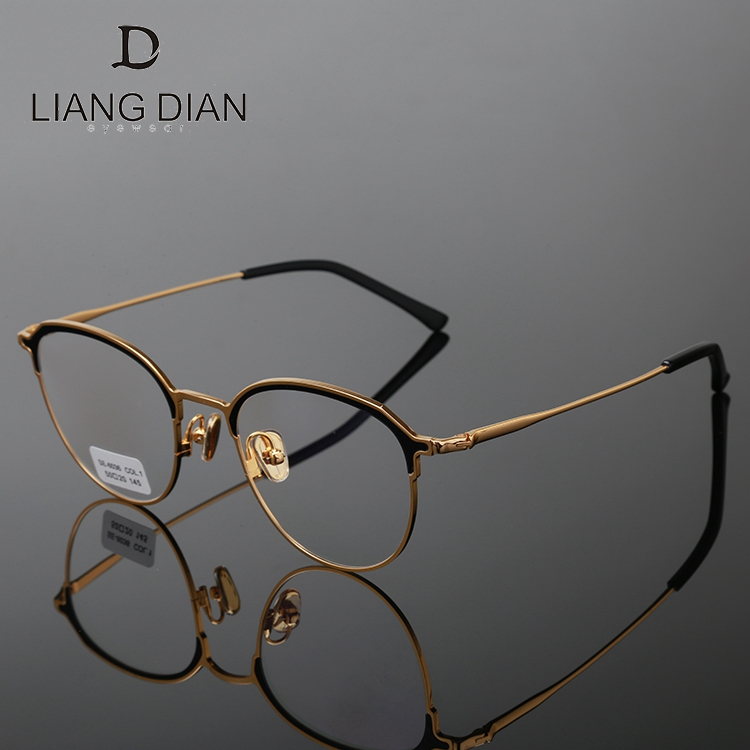 Wholesale custom color eyeglasses frame titanium, handmade metal eyeglasses spectacles full rim