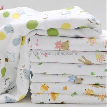 Yuhua Cotton Printed Muslin Baby Fabric White Muslin Cloth
