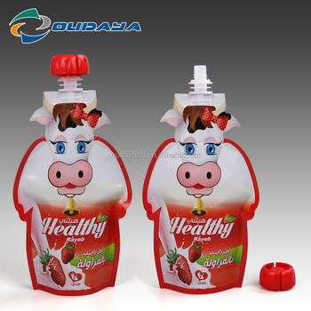 new plastic packaging cow shaped milk packaging pouch bag cow