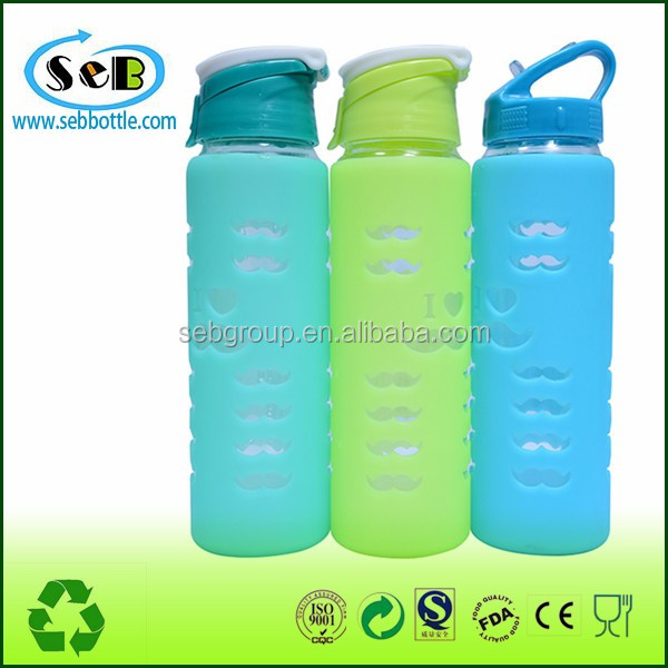 Borosilicate Glass Water Bottle Strong Heat Resistance Business Cup for Men Office