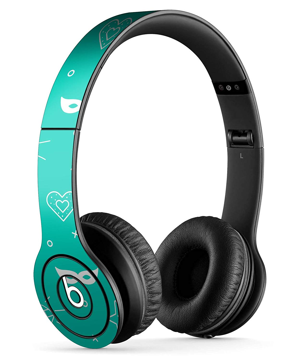 Teal Doodles with Lightning DesignSkinz Full-Body Skin Kit for the Beats by Dre Solo or SoloHD Headphones / Ultra-Thin / Matte Finished / Protective Skin Wrap