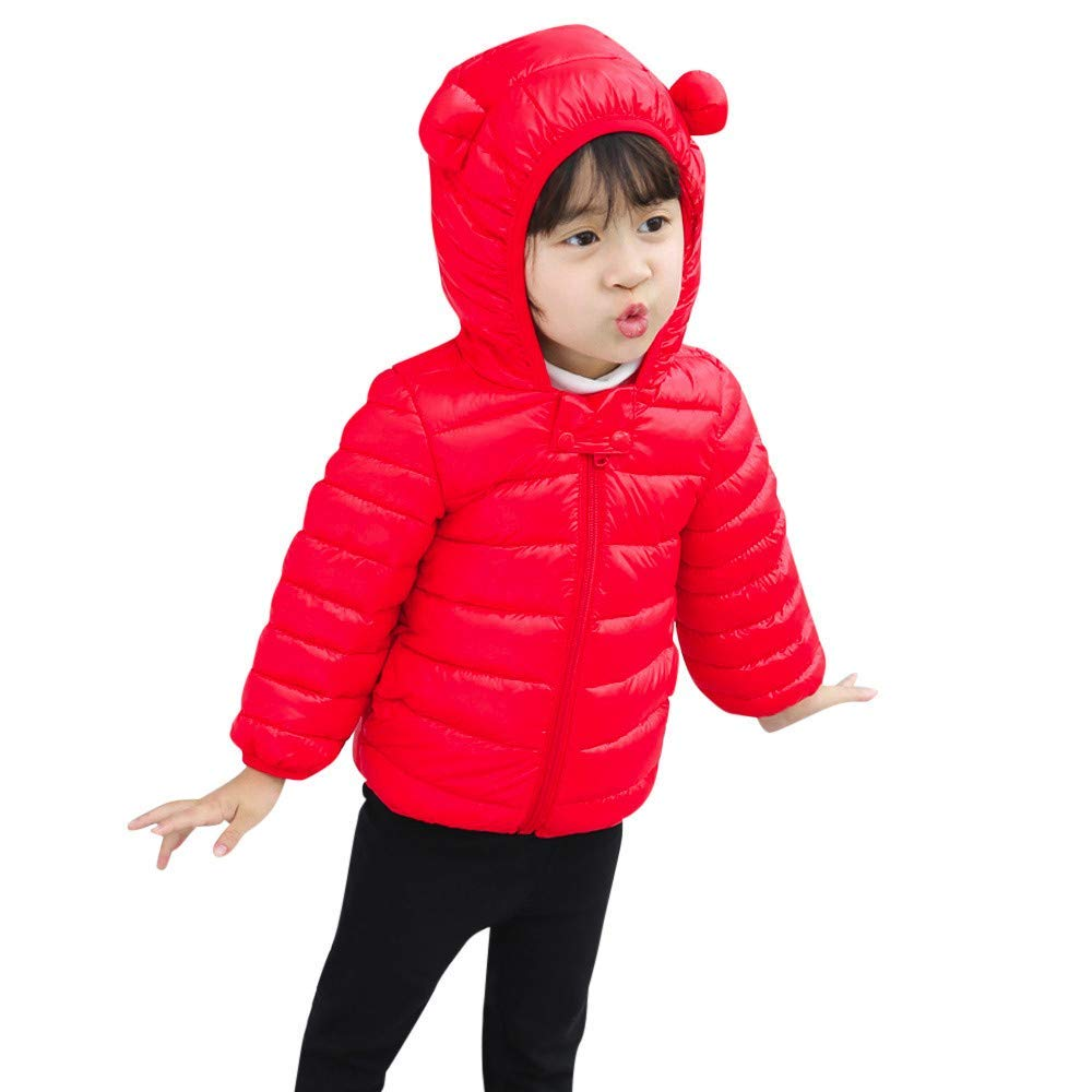 1669f11b9 Buy Tronet Kids Boys Girls Winter Solid Zip Coats Baby Thick Warm Ears  Hoodie Snow Jacket in Cheap Price on m.alibaba.com