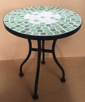 Round Mosaic Tile Top Flower Plant Stand For Garden Patio Furniture Ceramic Outdoor