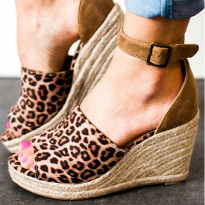 New style summer sandals 2019 wedges shoes ladies wedge heel sandals shoes