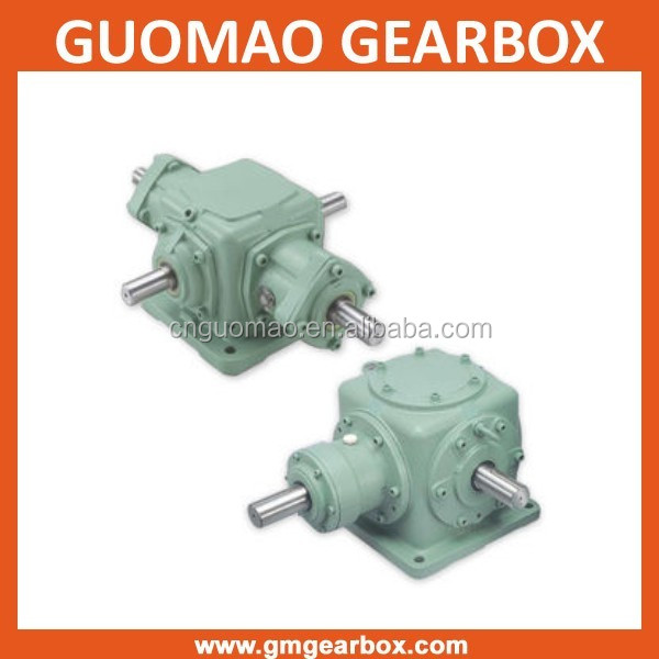 Gearbox Manufacturer T Series 90 Degree 1:1 Ratio Spiral Bevel Gear Reducer