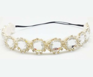 new arrival big crystal stone headband goody hair accessories