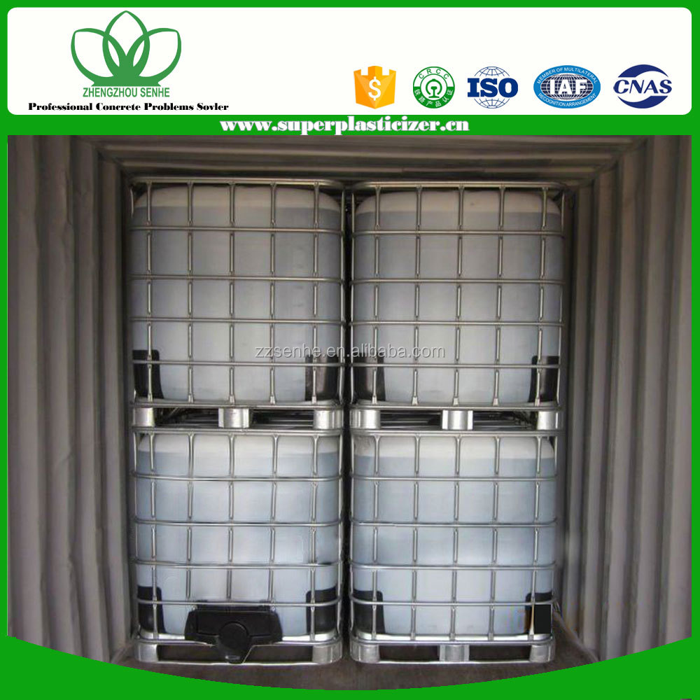 SH121801 50% solid content polycarboxylate superplasticizer by Thinkhigh of China manufacturer