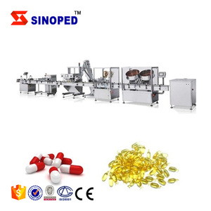 Tablet Automated Counting Capping Labeling Production Line Adjustable Pill Capsule Bottle Filler