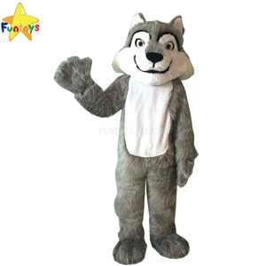 Funtoys CE realistic character gray wolf mascot costume