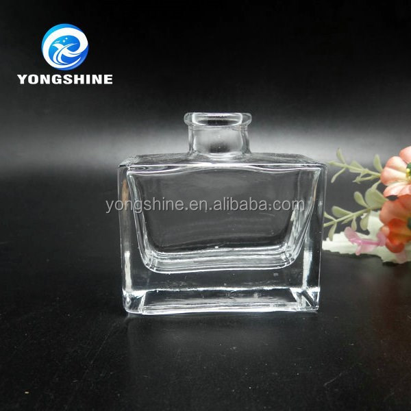 50ml aroma reed diffuser square empty glass bottle with cork lid wholesales