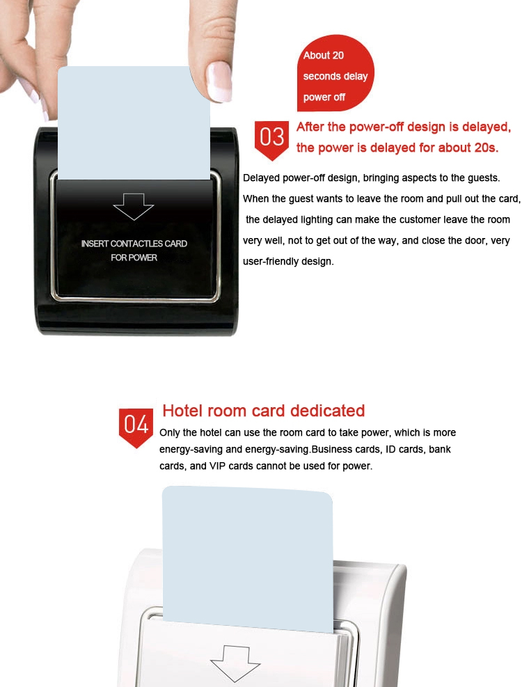 2019 Top selling RFID Hotel Card Key Switch Hotel Energy Saving Switch